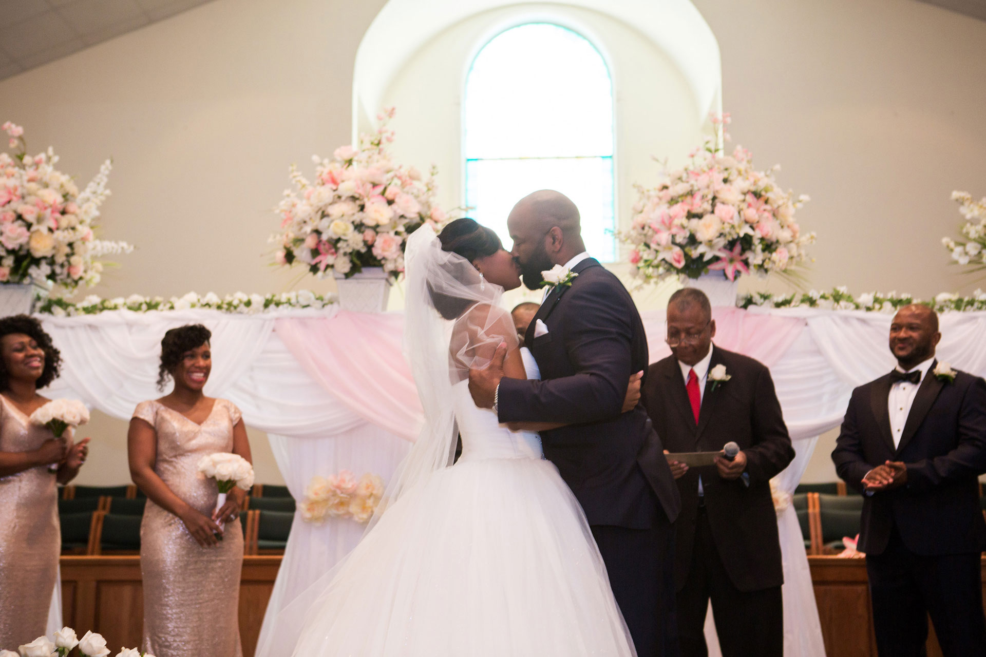 wedding ceremony Mt Zion Missionary Baptist Church Hinesville
