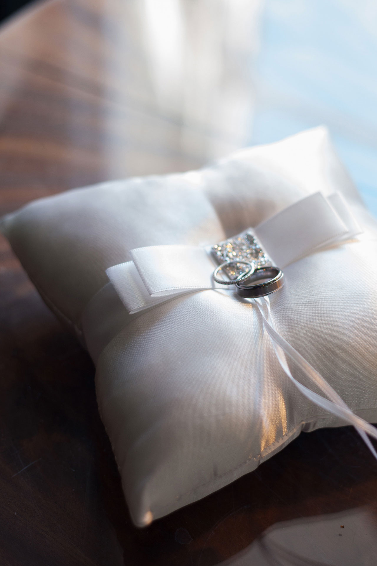 wedding ring pillow savannah